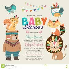 baby shower invitation stock vector image 74363301