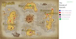 Wow Kalimdor Map A Travel Map For Portals In Legion I Made In Ms Paint Wow
