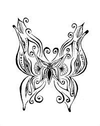 22 model henna butterfly drawing makedes com