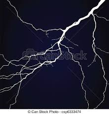eps vector of lightning in the night sky a vector illustration
