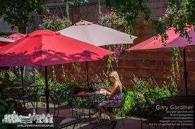 furniture red patio umbrellas walmart with iron chair and table
