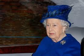 queen elizabeth ii appears in public for church service