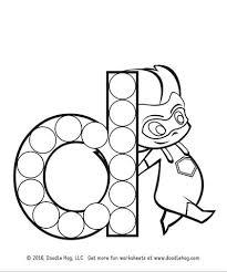 free download lower case letter superhero alphabet dot