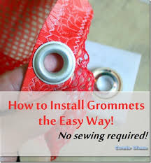Grommet Tool Kit For Curtains Condo Blues How To Install Grommets Eyelets In Fabric The Easy Way