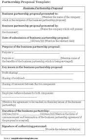 business partnership proposal sample business partnership