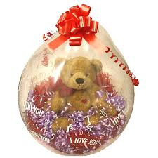 teddy in a balloon gift valentines balloons