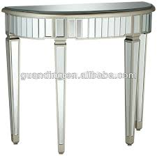 Mirror Sofa Table by Modern Half Round Living Room Wooden Mirrored Glass Console Table