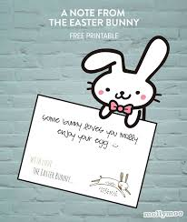 my easter bunny mollymoocrafts a note from easter bunny free printable