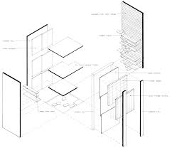 urban box exploded isometric isometric section in 1 drawing