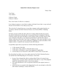 lovely collection dispute letter how to format a cover letter