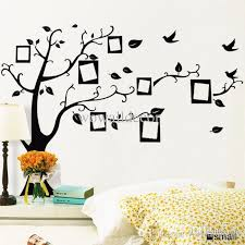 pvc removable photo frame family tree wall stickers decorative