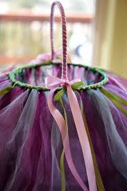 how to make a pretty tutu basket using a wire basket tulle and