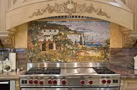 custom kitchen mural backsplash mosaics by vita nova mosaic inc