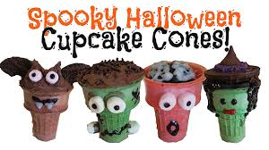 spooky halloween cupcake cones youtube