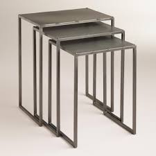 Grey Theme End Tables Designs Futuristic Looked In Grey Theme With Three