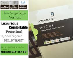 Naturepedic Mini Crib Mattress by Organic Baby Bedding What Are The Best Waterproof Crib Mattress