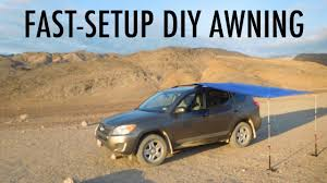 Vehicle Awning Fast Setup Diy Van Suv Or Truck Awning Great For Vandwelling