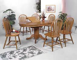 Inexpensive Dining Room Table Sets Crown Solid Oval Pedestal Dining Table Wayside