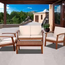 Conversation Sets Patio Furniture - amazonia murano 4 person eucalyptus patio conversation set