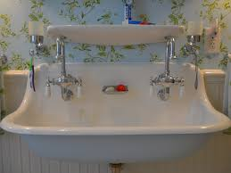 bathroom trough sinks for bathrooms 44 double trough sink vanity