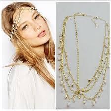 headbands for women 2018 2015 new bohemian tassel headbands for women marquise gem