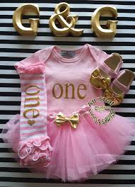 1st birthday tutu gold 1st birthday all pink and gold one