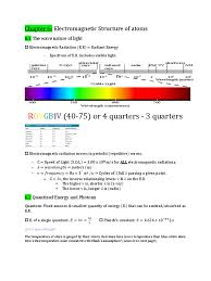chapter 6 study guide electromagnetic radiation photon
