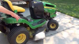 how to put a bagger on a john deere 100 series 125 automatic youtube