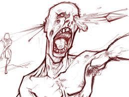 jibola u0027s work zombie attack morning sketch
