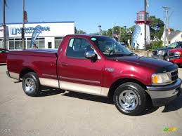 1997 dark toreador red metallic ford f150 xlt regular cab
