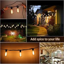 Bulb String Lights Zimtown Bulb String Lights With St64 Edison Incandescent Bulbs