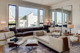 Modern Living Room With Built In Bench  Window Seat In San - Modern living room furniture san francisco