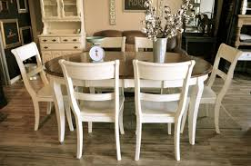 round oval off white dining set the workshop