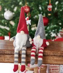 crochet christmas gnomes free pattern ornaments pinterest