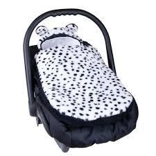 couverture siège auto bébé chancelière universelle pour poussette ou siège auto dalmatien