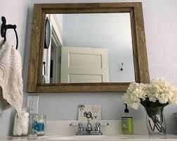 Bathroom Vanity And Mirror Shiplap Mirror Etsy