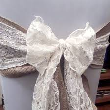lace chair sashes hessian sashes and bows esta s chair covers and photo booth hire