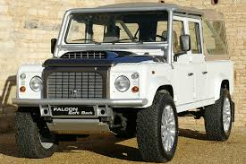 white land rover defender defender falcon