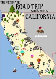 the ultimate road trip map of places to see in california road