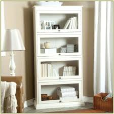 bookcase furniture corner white wooden book case with many