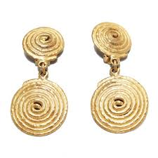 70s earrings vintage spiral dangling earrings 70s katheley s exclusive