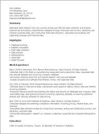 software for resume professional data collector templates to showcase your talent