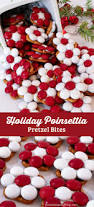 holiday poinsettia pretzel bites christmas desserts poinsettia