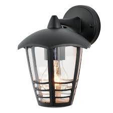 outdoor light francis outdoor 1 light die cast curved wall lantern black