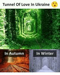 Autumn Memes - tunnel of love in ukraine in winter in autumn love meme on me me