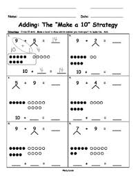 make ten adding with number bonds for singapore math math in