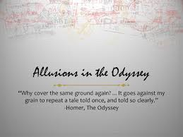 Blind Prophet In The Odyssey Allusions In The Odyssey Ppt Online Download