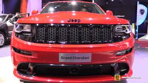 jeep grand cherokee red interior 2015 jeep grand cherokee srt exterior and interior walkaround