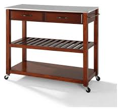 stainless steel topped kitchen islands stainless steel top kitchen cart island optional stool storage