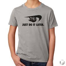 Funny American Flag Shirts Just Do It Later Sloth Procrastination Youth T Shirt